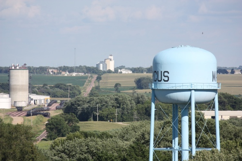 Marcus Iowa elevated picture water tower